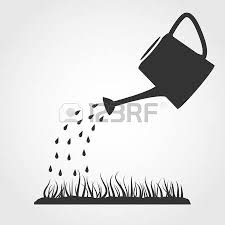 can clipart black and white. dark grey watering can sprays water drops above lawn royalty free cliparts, vectors, and stock illustration. image 28558479. clipart black white