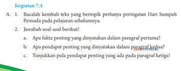Maybe you would like to learn more about one of these? Jawaban Bahasa Indonesia Kelas 8 Kegiatan 7 4 Hal 184 185 Bacalah Kembali Teks Yang Bertopik Jagotutorial