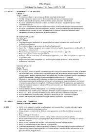 System Analyst Resume Samples Velvet Jobs