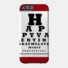 Smartphone Eye Chart Valentines Eye Chart
