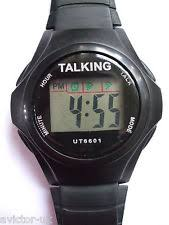 mens talking watch for blind talking watch lcd digital watch for the blind dyslexic boxed new