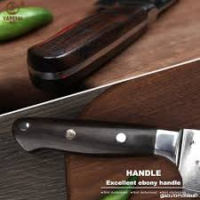 Yarenh Nakiri Couteaux Japonais 17cm Lame En Acier Japonais Damas
