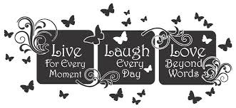 Live Laugh Love Quotes Live Laugh Love Floral Mural QuoteVinyl Wall Art Decal Sticker 90