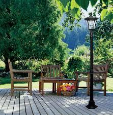 Outdoor Lighting Kona Solar Powered Lamppost Light Solar Lamp In Patio Lighting Solar