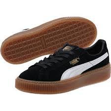 puma shoes suede black. image is loading puma-women-039-s-suede-platform-core-shoes- puma shoes suede black