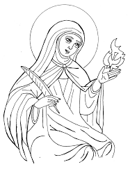Small Picture Catholic saints coloring pages timeless miraclecom