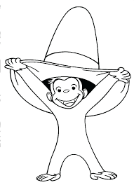 curious george printables coloring pages printable
