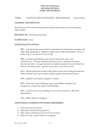 Groundskeeper Job Description For Resume Groundskeeper Sample Resumes Shalomhouseus 3