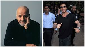 shah rukh khan receives autographed copy of the alchemist from shah rukh khan paulo coelho shah rukh khan paulo coehlo srk paul coelho