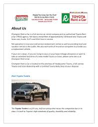 North miami car rental by Champion Autorental - issuu