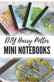 diy harry potter mini notebooks