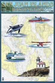 Nautical Charts San Juan Islands Wa Details About San Juan Islands Wa Nautical Chart Lp Artwork Posters Wood Metal Signs