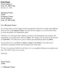 Sample Layoff Letter Notice Of Layoff Letter Template Useful Letters Templates