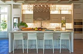 linear crystal chandelier contemporary kitchen mini chandelier over kitchen island