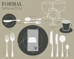 formal table settings. Formal Dining Table Setting With Full Equipped Utensil Are Decorated In Modern Style. \u2014 Vector By Commonthings Settings C