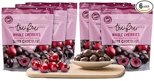 Find deals on products in chocolate on amazon. Amazon Com Tru Fru Dark Chocolate Dipped Freeze Dried Whole Cherries 4 Oz 6 Pack Case Grocery Gourmet Food