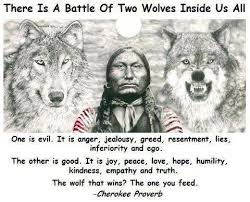 Native American Quotes Old Cherokee Proverb Two Wolves Krexy Enchanting Native American Love Sayings
