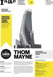 pictures of flyers invite of mayoral inauguration maa inauguration opening lecture thom mayne iaac blog