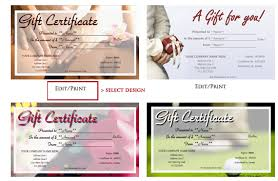 Design Your Own Printable Gift Vouchers Download Them Or Print