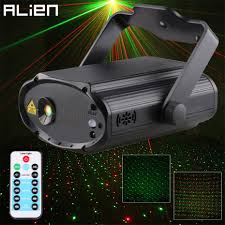 Laser Light Projector Us 34 99 Alien Remote Red Green Star Dots Dj Party Disco Laser Light Projector Dance Sound Activated Stage Decorate Lighting Effect In Stage