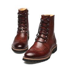 new arrival fashion bullock shoes handmade super warm genuine leather winter men