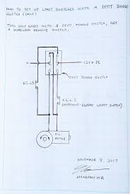 How To Design A Motor How To Set Up Limit Switches With A Wired Dpdt Switch For