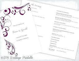 Wedding Program Scroll Wedding Scroll Template Digitalhustle Co
