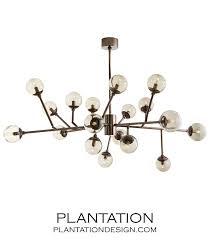 priya articulated chandelier brown nickel
