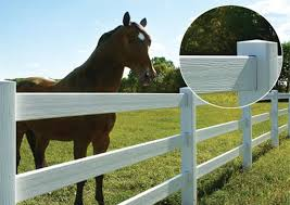 brown vinyl horse fence. Vinyl Horse Perimeter Fencing Brown Fence