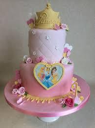2 Tier Disney Princess Theme 1st Birthday Cake Cake Cupcakes In