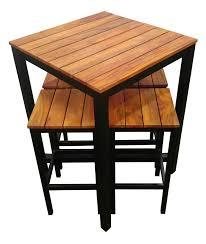 high outdoor furniture. beer garden outdoor 5 piece set galvanised black bar high 105m furniture e
