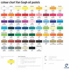 Royal Talens Artists Van Gogh Oil Pastels Singles Colour Chart
