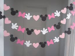 10 ft mickey mouse inspired paper garland banner decorations room