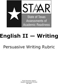 Persuasive Essay Rubric 2 English Ii Writing Persuasive Writing Rubric Pdf