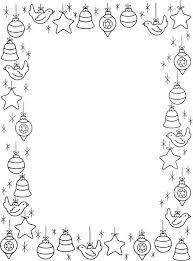 Blad Met Rand Van Kerstfiguurtjes Kerst Malvorlagen Weihnachten