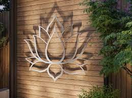 outdoor metal wall art large