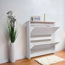 image is loading tophomer wooden shoe storage cabinet 2 drawer footwear