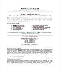Sample Of Electrician Resumes Examples Of Electrician Resumes Sample Resume 9 In Word For