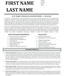 Construction Superintendent Resume Cooperative Including Sample Job