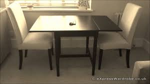 Ikea Kitchen Table Drop Leaf Ikea Ingatorp Dining Table With Henriksdal Chairs Youtube