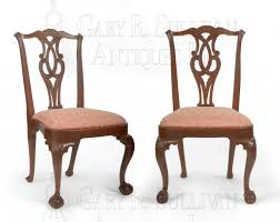 Chippendale Chairs Fresh Pair Of Early Chippendale Dining Chairs Boston  Mass Clocks