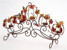 14 5 thanksgiving autumn harvest pumpkin and leaf tea light candle holder b017on468c