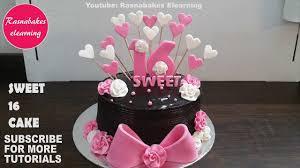 Sweet 16 Cakes16th Birthday Cake Design Ideas Decorating Tutorial