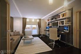 home office luxury home office design. Office : Outstanding Luxury Home Designs Room Decor With White Wall Shelves And Modern Swivel Chairs Also Brown Fabric Sofa On Rug Plus Design