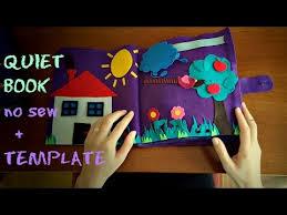 quiet book no sew 32 pages lots of ideas template quiet book bez šivanja predložak