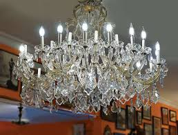 image of multi light crystal chandelier 43 w x