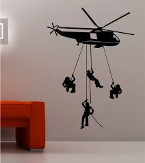 Great Helicopter Army Wallpaper Stickers In Kids Bedroom Walls Decoration Ideas