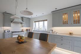 Light Grey Shaker Kitchen Design By Herbert William Blue Painted