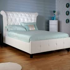 white faux leather bed. Interesting Leather Intended White Faux Leather Bed R