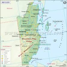 map of belize  belize map